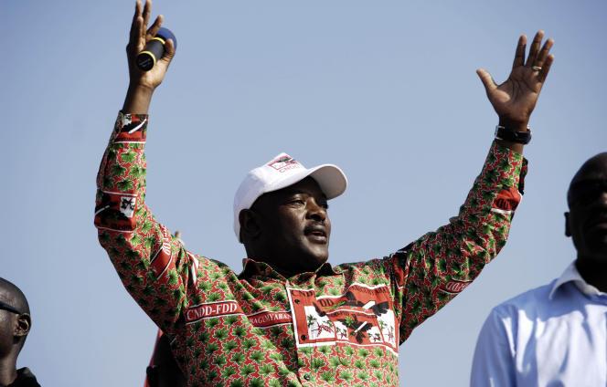 Le président du Burundi, Pierre Nkurunziza, ici à Bujumbura, en 2010, est décédé à 55 ans, le 8 juin.