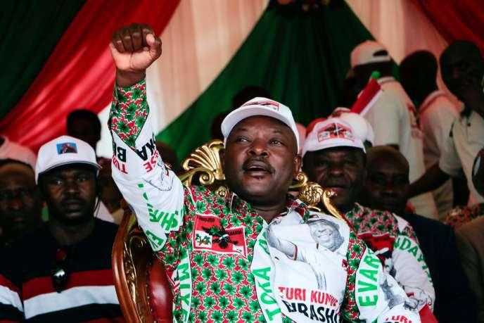Pierre Nkurunziza, le 16 mai 2020.