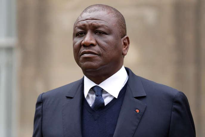 Le ministre ivoirien de la défense Hamed Bakayoko, à Paris, en novembre 2017.