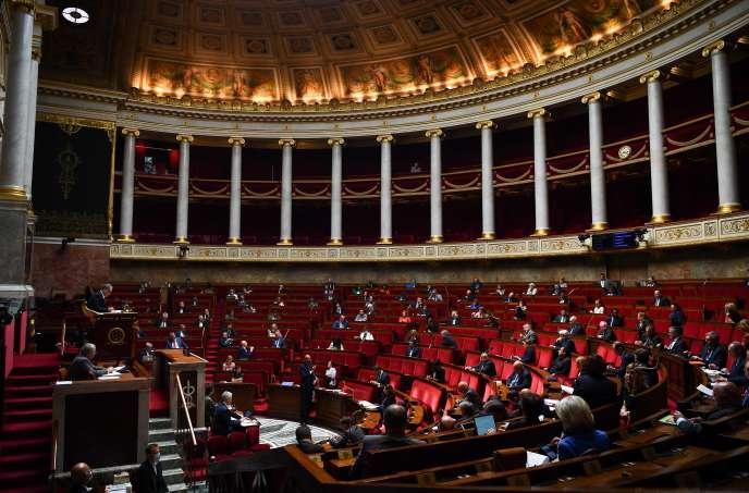 Edouard Philippe intervient à l'Assemblée nationale, lors d'une session de questions au gouvernement, le 26 mai.