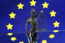 Nature morte sur le thème de l'amour de l'Europe et de la justice