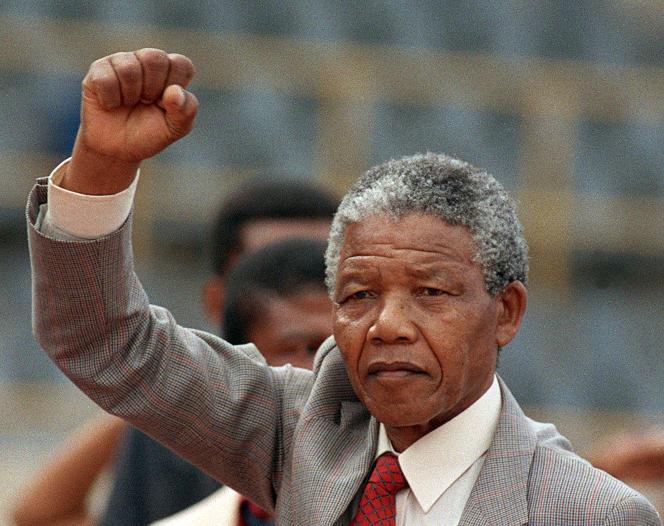 Nelson Mandela en février 1990.