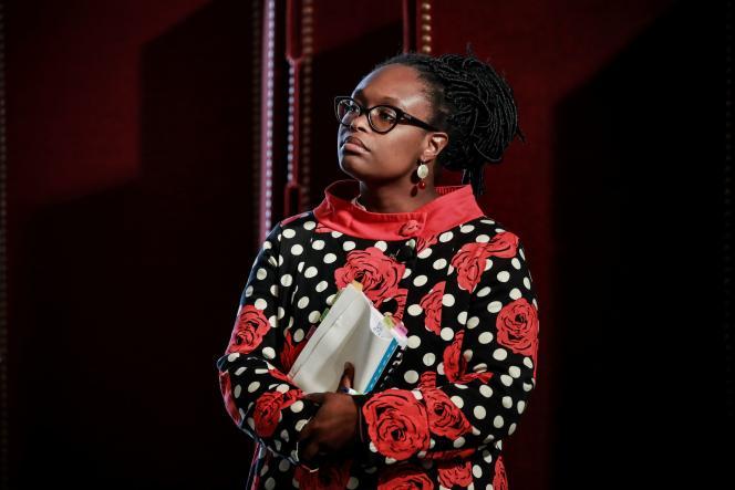 Sibeth Ndiaye, porte-parole du gouvernement, en conférence de presse, le 10 juin à Paris.