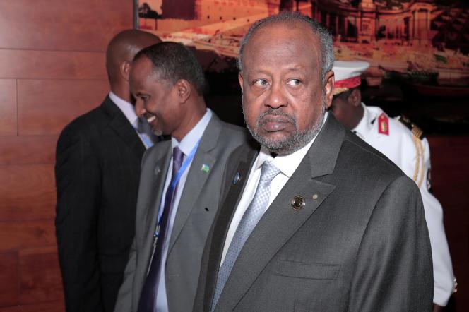 Le président djiboutien, Ismaïl Omar Guelleh, au siège de l'Union africaine, à Addis-Abeba, le 10février 2020.