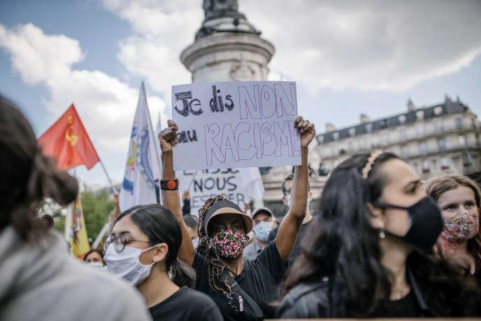 Rassemblement contre le racisme à Paris, le 9juin, à la suite du meurtre de George Floyd à Minneapolis.