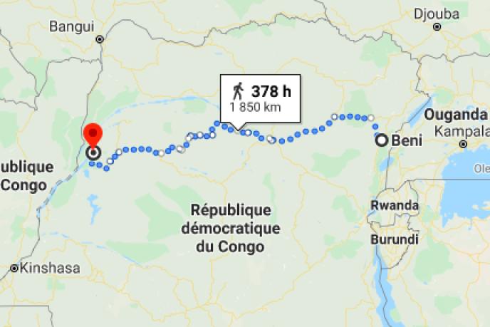 Les deux foyers épidémiques sont distants de 1800km.