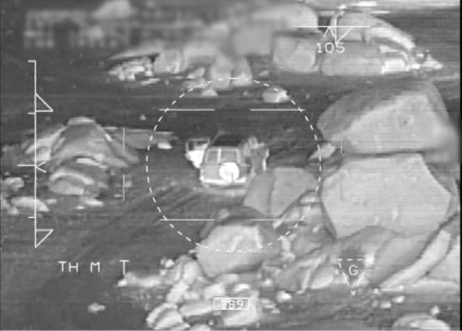 Photo provenant de l'Etat major des armées, montrant l'intervention contre le dernier émir historique d'Al-Qaida au Maghreb islamique, le 3 juin.
