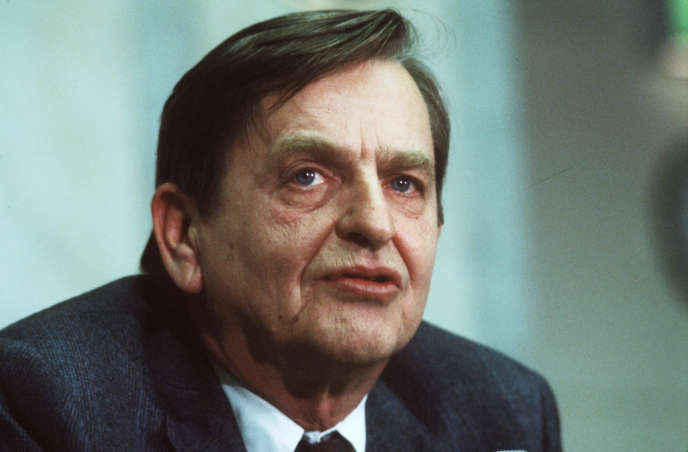 Le premier ministre suédois, Olof Palme, ici le12 décembre 1983, avant d'être abattu dans le centre de Stockholm trois années plus tard, en 1986.