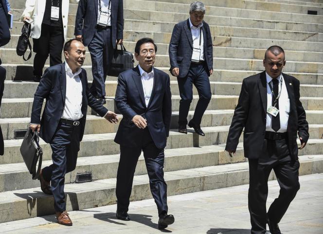 Park Won-soon lors du sommet des villes à Medellin, en Colombie le 12 juillet 2019.