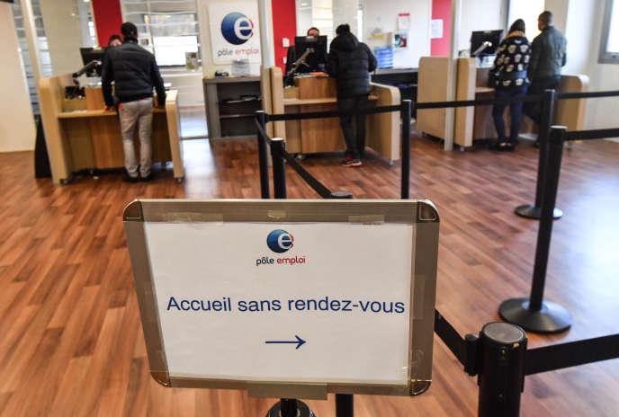 Une agence Pôle emploi, à Montpellier (Hérault), en janvier 2019.