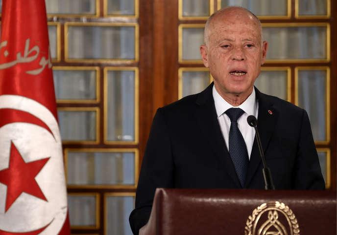 Le président tunisienKaïs Saïed à Tunis, le 20 février 2020.