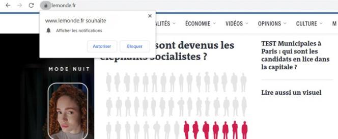 Activer les notifications web du site Internet Le Monde sur votre ordinateur.