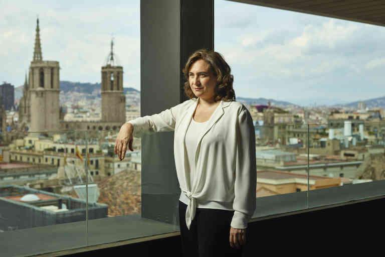 Barcelone 4 juin 2020, Ada Colau maire de Barcelone au neuvième etage du Palau de la Generalitat.  Paolo Verzone / VU