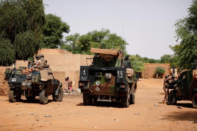 Patrouille française de la force« Barkhane» à Gossi, dans le nord du Mali, en juillet 2019.