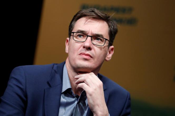 Gergely Karacsony nouvellement élu lors d'une conférence le 16 octobre 2019.