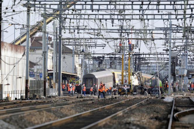Le 13 juillet 2013, après l'accident de train survenu la veille en gare de Brétigny-sur-Orge (Essonne).