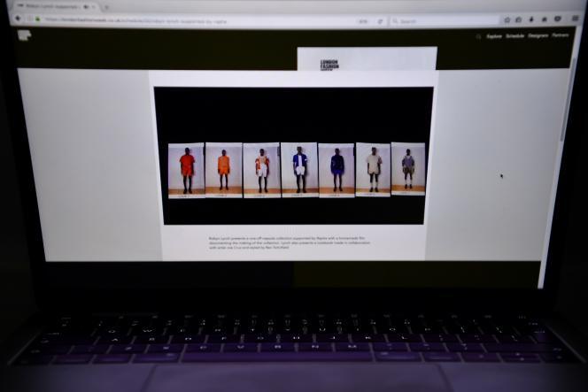 Collection capsule de Robyn Lynch présentée sur le site Internet de la London Fashion Week, le 12 juin.