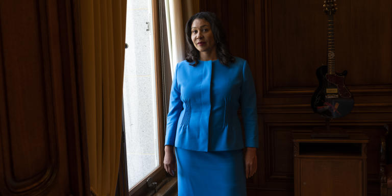 Mayor London Breed in her office at City Hall in San Francisco, CA.