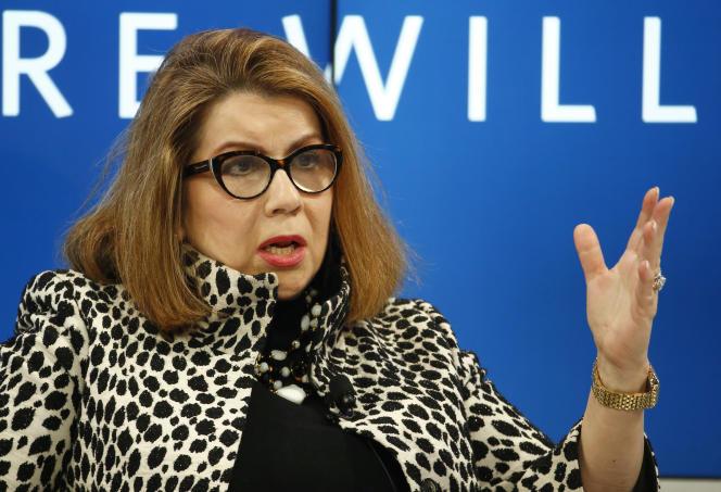 Carmen Reinhart, économiste en chef de la Banque mondiale,à Davos en Suisse, le 17 janvier 2017.