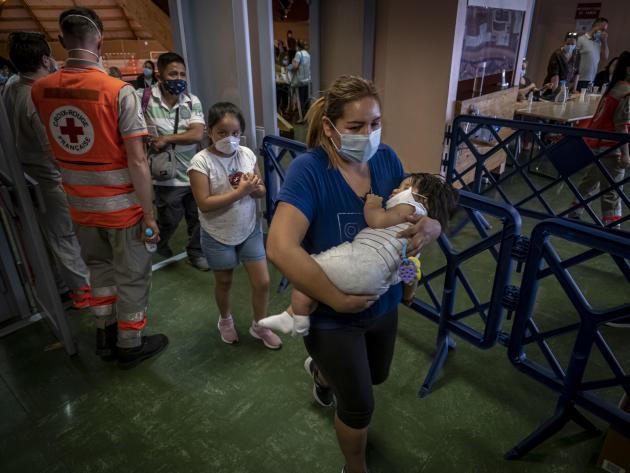 Dépistage de travailleurs étrangers, le 10 juin à Beaucaire (Gard).