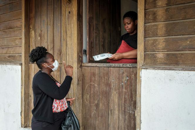 A Mana (Guyane), le 13 juin.