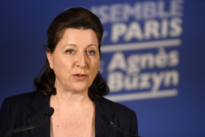 Agnès Buzyn, candidate LRM à la mairie de Paris, le 15 mars à Paris.