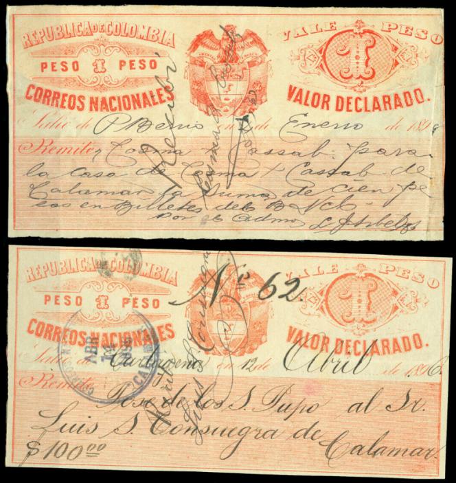 Cubiertas, paire à 1 peso rouge en vente sur eBay pour 110 dollars.