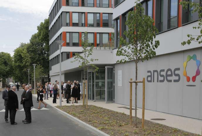 Le siège de l'Agence nationale de sécurité sanitaire de l'alimentation, de l'environnement et du travail, à Maison-Alfort, dans le Val-de-Marne, le 7 juillet 2015.