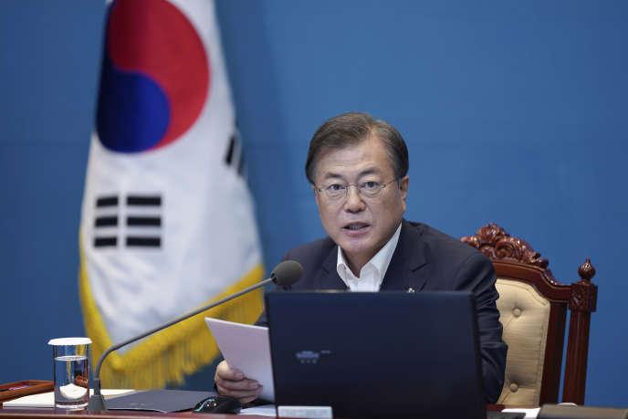 Le président sud-coréen Moon Jae-in, le 15 juin à Séoul.