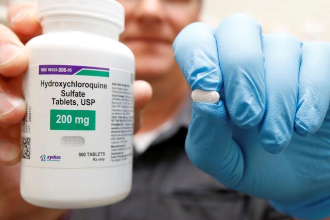 Un cachet d'hydroxychloroquine, le 27 mai, à Provo (Utah), aux Etats-Unis.
