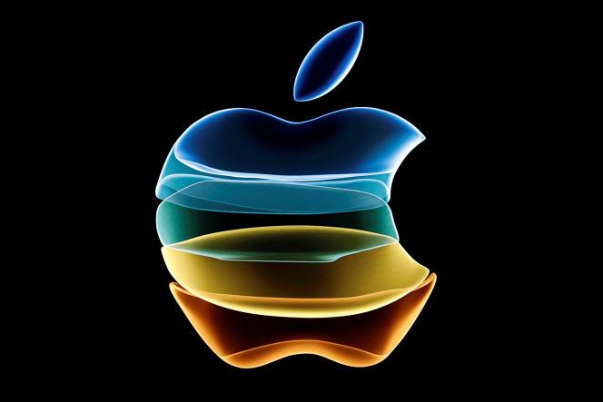 Logo d'Apple lors d'un événement au siège de la compagnie à Cupertino, le 10septembre 2019.