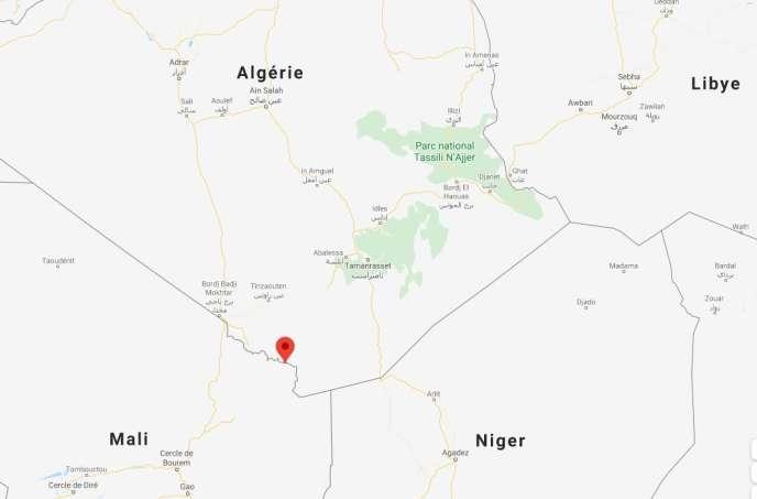La localité de Tinzaouatine se situe à la frontière algéro-malienne.