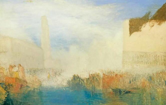 «Venise, la Piazzetta avec une cérémonie du doge épousant la mer», vers 1835, huile sur toile (Tate, 1856).