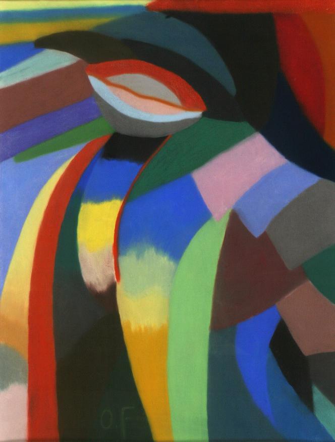 Otto Freundlich (1878-1943) : «Composition», 1919, pastel sur papier, Musée de Pontoise, donation Freundlich.