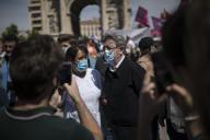 Jean-Luc Mélenchon, député LFI des Bouches-du-Rhône, lors d'une manifestation des soignants, à Marseille, le 16 juin.