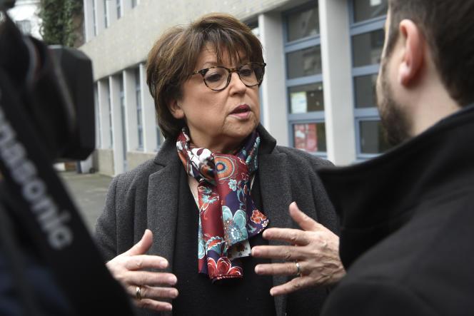 La candidate et maire socialiste sortante, Martine Aubry, à Lille, le 15 mai.