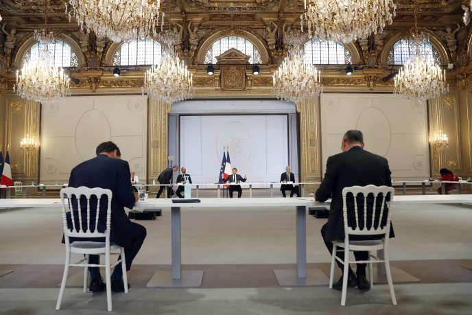 Emmanuel Macron, à l'Elysée, le 4 juin.