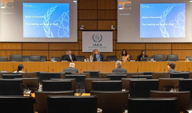 Au siège de l'Agence internationale de l'énergie atomique (AIEA), à Vienne, le 15 juin.