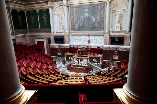 L'hémicycle de l'Assemblée nationale, à Paris, le 19 mai.