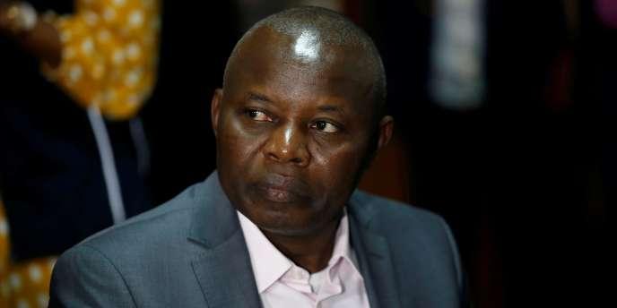 Vital Kamerhe, leader de l'Union pour la nation congolaise (UNC), lors d'un meeting àKinshasa, en République démocratique du Congo, le 28 décembre 2018.