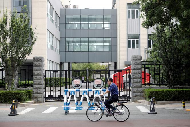 Ce lycée et toutes les écoles sont de nouveau fermés suite à la nouvelle vague de Covid-19 qui frappe Pékin, le 17 janvier.