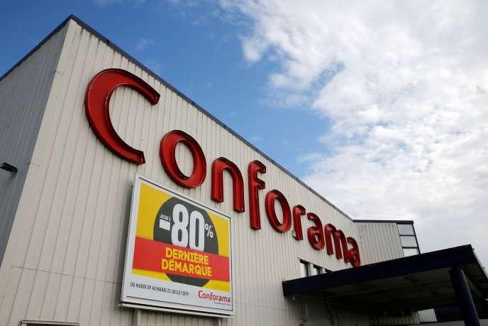 Un magasin Conforama, à Proville (Nord), le 11 juillet 2019.