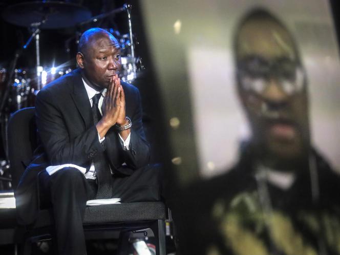 L'avocat de la famille Floyd, Ben Crump, assiste à la cérémonie d'enterrement de George Floyd, à Minneapolis (Minnesota), le 4 juin.