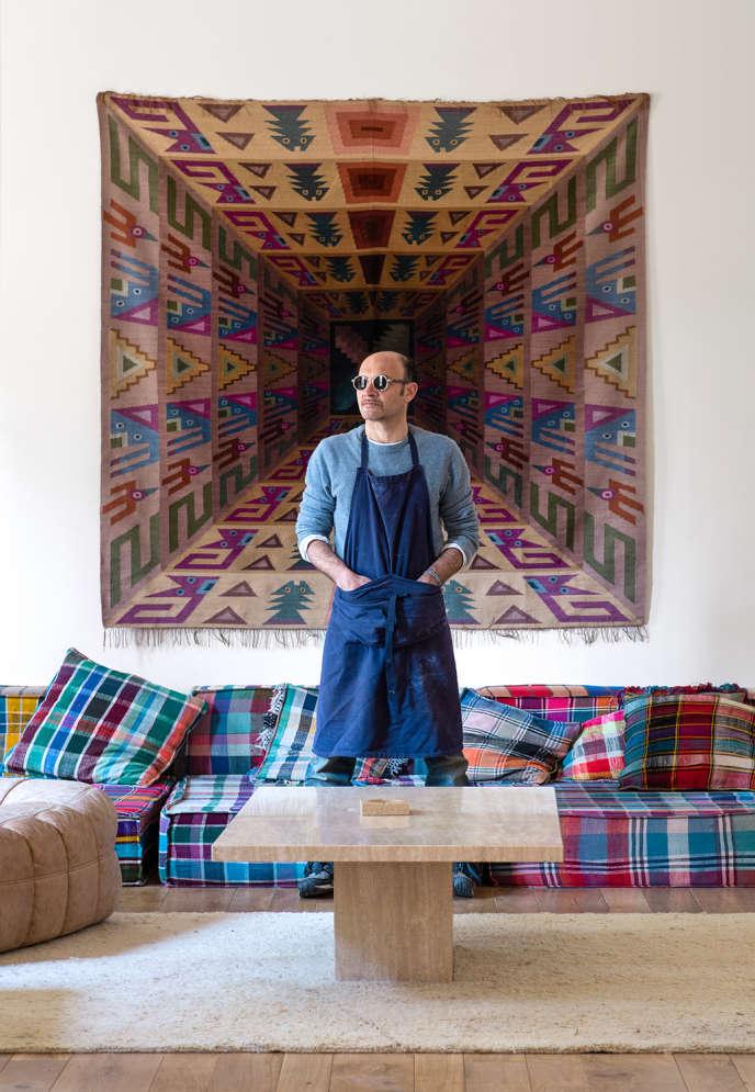 Lionel Bensemoun, an ecological entrepreneur, goes loopy at Barbizon