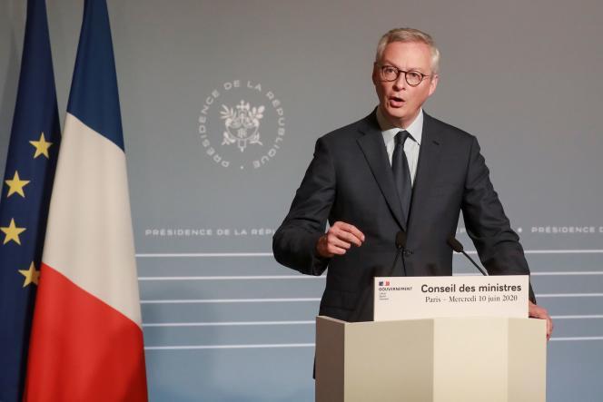 Le ministre de l'économie et des finances, Bruno Le Maire, à Paris, le 10 juin.