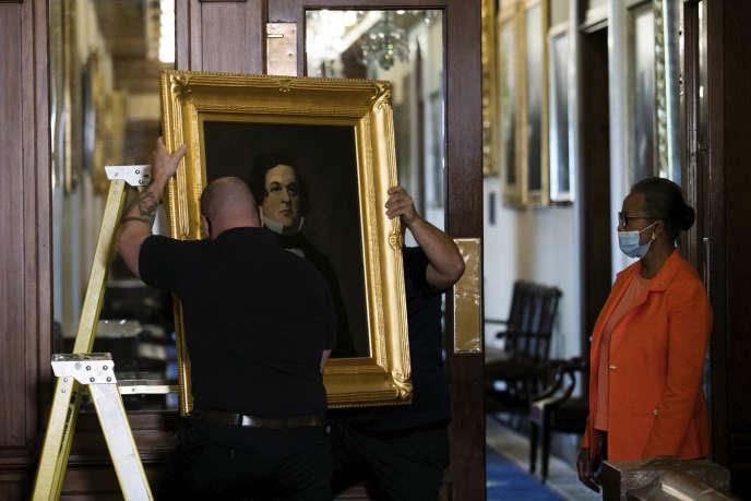 Le portrait d'Howell Cobb est l'un des quatre décrochés jeudi 18 juin, au Congrès de Washington.