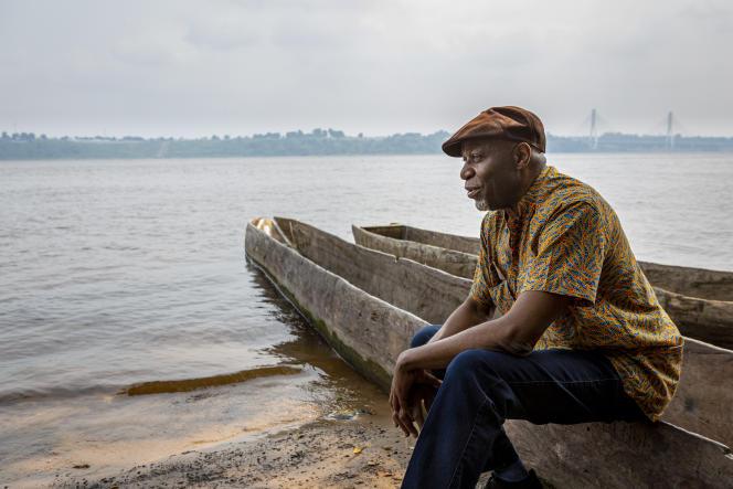 Le pianiste, compositeur et chanteur Ray Lema à Kinshasa (République démocratique du Congo), en 2019.