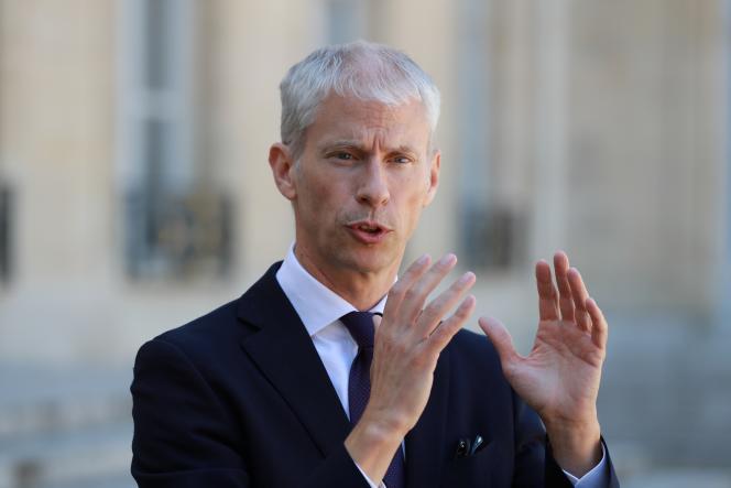 Le ministre de la culture et de la communication Franck Riester à l'Elysée à Paris, le 6 mai 2020.
