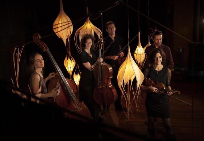 Le Quintet Bumbacen concert à Manteyer (Hautes-Alpes), en 2019.