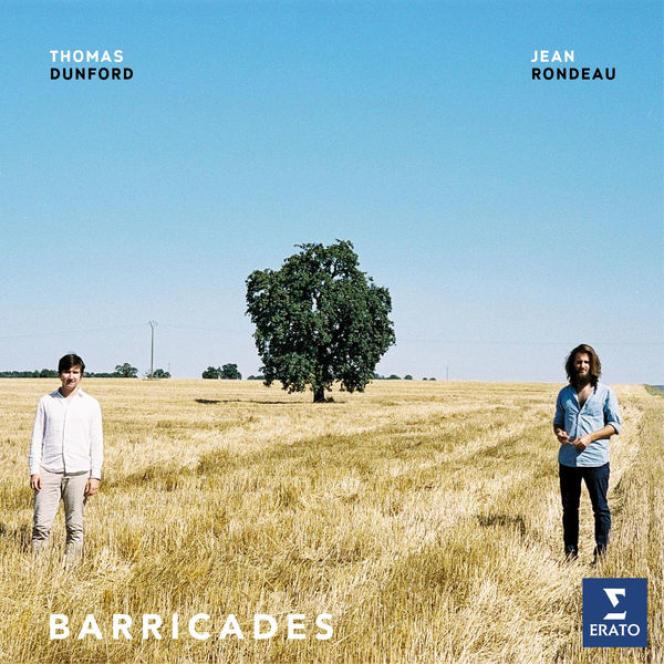 Pochette de l'album« Barricades», deThomas Dunford (luth) et Jean Rondeau (clavecin).